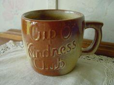 "Rare Frankoma Pottery | RARE Frankoma Pottery ""Cup O' Kindness Club"" ""Oklahoma's Golden ..."