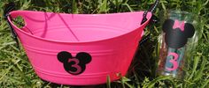 Minnie Mouse Party Favor Mini Oval Tubs by HelloFaith on Etsy Minnie Birthday, Little Girl Birthday, Minnie Mouse Party, 3rd Birthday Parties, Birthday Ideas, 2nd Birthday, Mini Mouse Baby Shower, Baby Mouse, Do It Yourself Crafts
