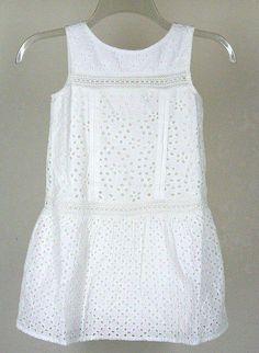 Gap Kids White Eyelet Seaside Dress Sz 6 7 S Girls New NWT #GapKids #DressyEverydayParty