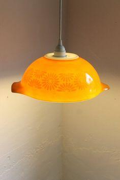oranger teller als einen designer kronleuchter benutzen - Lampe selber machen – 30 einmalige Ideen