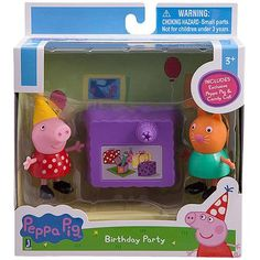Peppa Pip Peppa and Candy Cat Birthday Party Figures Pack