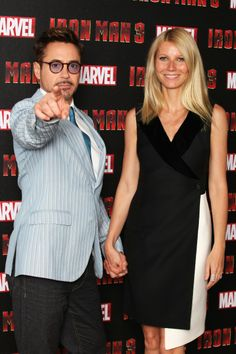 Robert Downey Jr. and Gwyneth Paltrow at event of Iron Man 3