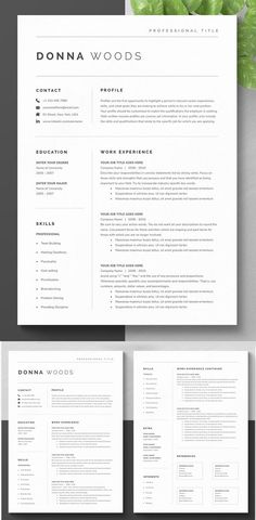 Minimalist clean resume templates, best minimal resume design 100% print ready cv resume can assist you achieve the dream job. High-quality minimal resume templates that may help you land your dream job or simply create a better looking business. Professionally designed, we take a unique approach to boring business documents, creating modern, sophisticated and easy to use […] #resumetemplate #cvtemplate #coverletter #moderncv #resumedesign Modern Resume Template, Creative Resume Templates, Resume Ideas, Best Cv Template, Docs Templates, Web Design, Graphic Design, Cv Inspiration, Resume Writing