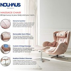 Find The Best Massage Chair The Has The Best Reviews. Massage Chair In Living Room Makes It Extremely conveniently For You To Gain From Massage Chair Benefits To Live Healthy & Active Life. Good Massage, Diy Chair, Chairs For Sale, Chair Pads, Massage Chair, Pink Leather, Chair Design, Recliner, Gain