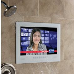 Waterproof TV for Showers - http://dudebrogifts.com/waterproof-tv-for-showers/