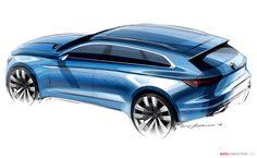 Volkswagen T Prime Concept GTE Design Sketch Render Transportation Technology, Transportation Design, Car Design Sketch, Car Sketch, Vw T, Volkswagen, Exterior Rendering, Exterior Design, Yacht Design