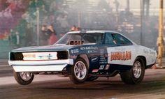 The HAWAIIAN Dodge Charge Funny Car