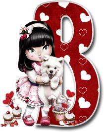 Oh my Alfabetos!: Alfabeto Tilibra Jolie cargando a un perrito. Decorative Alphabet Letters, Printable Alphabet Letters, Cute Alphabet, Alphabet And Numbers, Monogram Letters, Alpha Bet, Flower Fairies Books, Minnie Png, Letter D