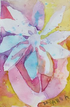 Negative painting of a flower