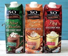 So Delicious Dairy Free Holiday Drinks
