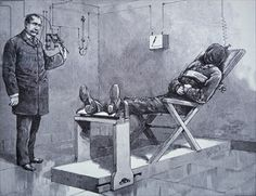 The Electric Chair in the 1890s (engraving) & Marnee and Meg find out more about their relatives on ancestry.com ...