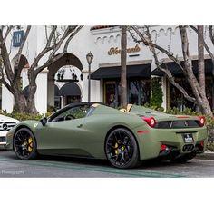 Badass Military Style Ferrari via carhoots.com
