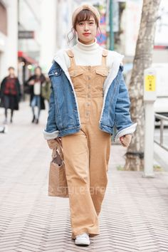 Shibuya Tokyo, Jan 2018, Tokyo Street Style, Street Snap, Japanese Street Fashion, Fashion News, Overalls, Converse, Hipster