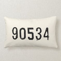 Personalized Zip Code Pillow | Monogrammed Gift