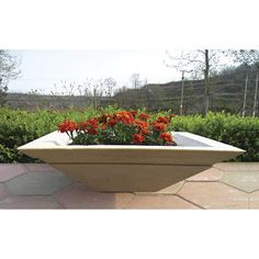 "24"" Cubic Lightweight Outdoor Planter LO-CUPL-2407"