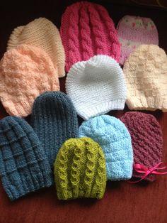 gorro bebe ni a ni o tejido a mano crochet dos agujas 0 12m 9e40f82356e