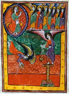 Appearance of the Seven Angels with Trumpets | Beatus of Liébana | Las Huelgas Apocalypse | 1220 | The Morgan Library & Museum