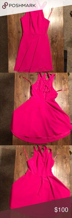 Erioisly the cutest dres! Fits my waist like a dream! Wore for a bridal shower! Bought from Nordstrom. Can possibly fit a 6 , it's between a in my opinion! Picture of group is me in the pink dress! Pink Party Dresses, Party Dress Outfits, Pink Dress, Bridal Dresses, Cute Dresses, Dresses With Sleeves, Dress Party, Belted Shirt Dress, Tee Dress