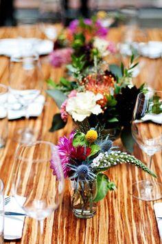 Gorgeous color combo for wedding centerpieces!