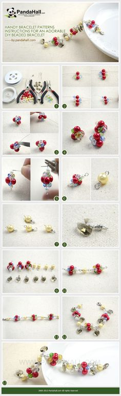 Handy bracelet patterns instructions for a fun and funky diy beaded bracelet. You can make it out of just about any pattern, from beading wire and painted pearl beads to brass wire and radiant glass beads.