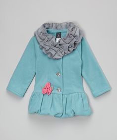 Another great find on #zulily! Patina Ruffle-Collar Bubble Coat - Infant, Toddler & Girls #zulilyfinds
