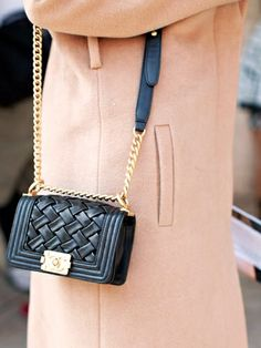 mini black leather #bag :: Boy by #Chanel