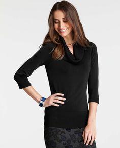 ann taylor cowlneck black sweater - Google Search
