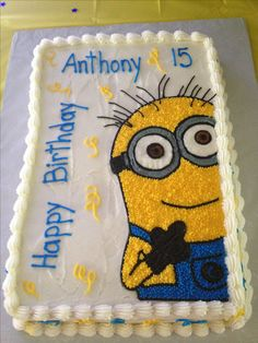 Original tarta para fiesta temática Minions