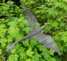 Dragon Sculpture in Stainless Steel Chainmaille
