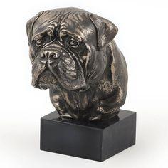 Bullmastiff dog marble statue limited edition by ArtDogshopcenter