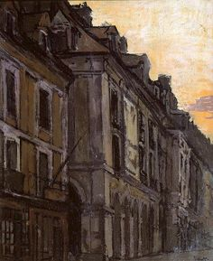 Les Arcades de la Poissonnerie, Dieppe / Walter Richard Sickert - circa 1900
