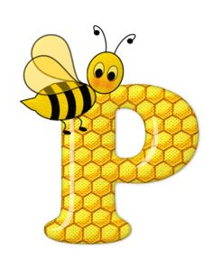 Alphabet letters bee on honeycomb. Bee Pictures, Scrapbook Letters, Spelling Bee, Bee Party, Alphabet And Numbers, Alphabet Letters, Cool Cartoons, Monogram Letters, Preschool Crafts