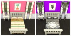 My Sims 4 Blog: Bed Recolors by Sunshineandrosescc