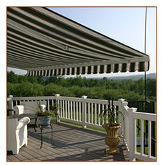 New south-facing deck is going to be hot in the summer: 8000 Series Patio Retractable Awning