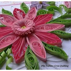 #pink #flower #pilynuñez #creaquilling #creative #quilling #quillingpaper #art4you #artwork #art #floral #design #love #pretty #beautiful #cards #originals #filigrana #papercraft #papel #papelaria #flores #rosado #manualidades #madeinchile #chile #artpaper #quilledpaperart #papercut