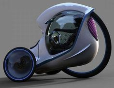 Futuristic Tricycle Concepts - The Citroen E-3POD Antistatic is an Awesome Compact Vehicle (GALLERY)