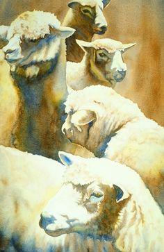 Sheep detail ~ Georgia Watercolor Society: 2009 Members' Exhibition: Don Taylor ...