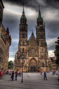 Iglesia de Lorenz en Nuremberg, Alemania.