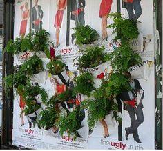 Guerrilla City Gardening. Pockets in a poster / billboard.