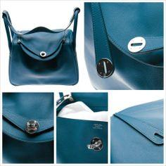 Hermes Lindy Clemence Leather Shoulder Bag