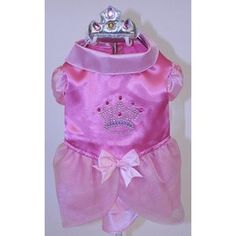 Puppe Love Satin Princess with Crown Dog Costume