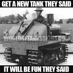 Vickers-Carden-Loyd Utility Tractor experimental conversion into One Man Machine Gun Carrier World Of Tanks, Army Vehicles, Armored Vehicles, Utility Tractor, Personal Armor, Tank Armor, Man Of War, Ww2 Tanks, Tank Design