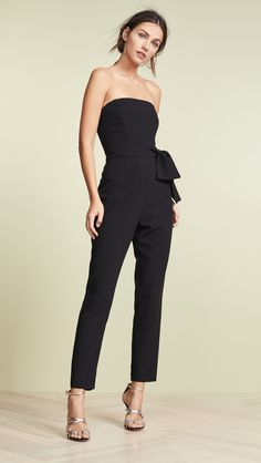 Looking for Black Halo Harbor Jumpsuit ? Check out our picks for the Black Halo Harbor Jumpsuit from the popular stores - all in one. Schwarzer Overall Outfit, Provonias Wedding Dress, Black Jumpsuit Outfit, Best Cocktail Dresses, Wedding Week, Wedding Summer, Black Women Fashion, Women's Fashion, Fashion Stores