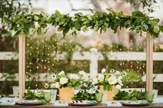 wedding decoration green and white - Hledat Googlem