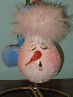 snowman light bulb - Penryk Hand painted Crafts and Collectables