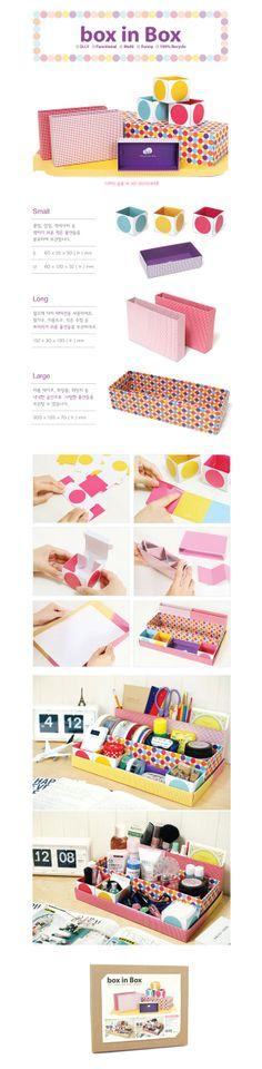 Paper Desk Organizer / Office Desk Organizer Box