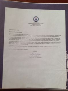 Eagle Court Of Honor Letter Of Congratulations President George