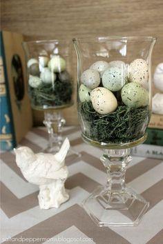 Easter Nest Hurricane Glasses womansday