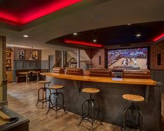 basement sports bar ideas. in home sports bar - basement remodel // chc creative remodeling ideas