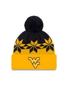 sale retailer 3d5a9 a3967 New Era WVU Wintry Knit Cuff Knit Cap